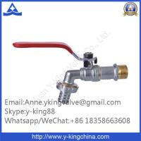 Quality Nickel Plated Brass Faucet with Red Steel Handle wholesale