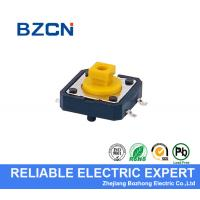 Yellow Square Button SMD Tactile Switch 4 Pin Light And 12X12X7.3mm Size