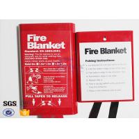 Quality Flame Retardant Fabric Fiberglass Fire Blanket for Thermal Heat Protection wholesale