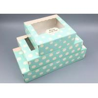 Custom Accpetable Printed Paper Moon Cake Box With Window Multicolors 3 Sizes