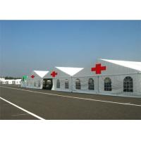 China Water Resisitant Hospital Emergency Tent White Heavy Duty Steel Frame Canopy on sale
