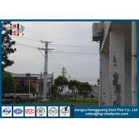 China Anti Rust Q235 Transmission Line Metal Power Poles With Transmission Line Hardware on sale