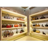 Quality Modern Simple Looks Handbag Shop Display Shelving With LED Strip Lights Decoration wholesale