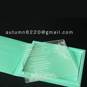 Quality acrylic wedding invitation wholesale