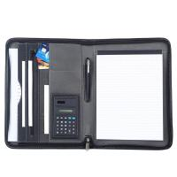 Quality Black PU Leather Business Portfolio For Business Travel / Daily Use wholesale
