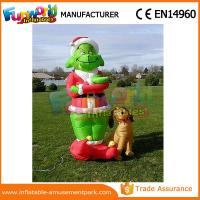Quality Mini Oxford cloth Green Airblown Inflatable Grinch Inflatable Christmas Grinch With Dog wholesale