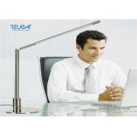 Quality Silver Metal Switch Dismontable Desk Lamp with 360 ° Rotation Metal Body Two USB Charging Ports wholesale