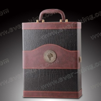 China Leather Cardboard Wine Bottle Packaging Boxes , Frosting Bottle Gift Packaging on sale