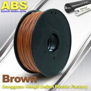Quality High Strength ABS 3D Printer Filament 1.75mm /  3.0mm 732C Brown 1kg / Spool Filament wholesale
