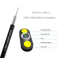 Quality Gyfxty Outdoor Non Metallic Fiber Optic Cable 12 Core Single Mode G652D 30M Span Length wholesale