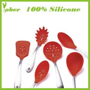 Quality 100% Silicone Custom Silicone Spatula Set Silicone Kitchen Tools Silicone Kitchenware Set wholesale