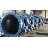 Cheap DN1600-2500mm DUCTILE IRON DOUBLE ECCENTRIC BUTTERFLY VALVE PN16 for sale