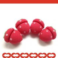 Cheap Strawberry Shaped Sponge Hair Roller for sale