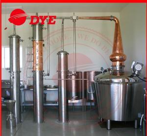 Quality 200L - 5000L Red Copper Pot Still , Distillation Of Alcoholic Beverages wholesale
