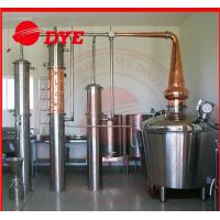 Quality 200L - 5000L Red Copper Pot Still , Distillation Of Alcoholic Beverages wholesale
