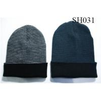 Quality men's stripe oversize beanie good style and high quality SH031 adults hats wholesale