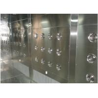 Quality Customized Air Shower Tunnel With Automatic Sliding Door And PLC Control System wholesale