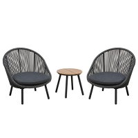 Quality 420mm Height Rattan Wicker Coffee Table wholesale