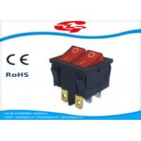 Quality 6 Pin Double Electrical Rocker Switches With Light Indicator , Electrical On Off Switch 10a 250v wholesale
