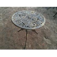 Quality Patio Furniture Wrought Iron Antique Cast Iron Table And Chairs Powder Coating wholesale