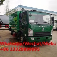 China Customized SHACMAN brand diesel road sweeper and washing vehicle for sale, Cheaper street sweeping truck for sale on sale