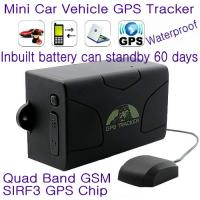 Quality GPS104 Waterproof Car Truck Vehicle GPS SMS GPRS Tracker Cut-off oil & engine remotely 6000mAh Battery for 60day Standby wholesale