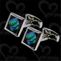 Quality Stainless steel cufflinks with shell fashion jewelry wholesale