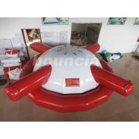 Quality Commercial Grade PVC Tarpaulin Inflatable Saturn Rocker For Water Games wholesale
