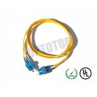Quality SC Connector Optical Patch Cord 2F ZIP 3.0mm OFNR CORNING SMF-28 ULTRA, Yellow Jacket wholesale