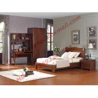 Quality Classic Design Solid Wood Material for Single Bedroom Furniture Set wholesale