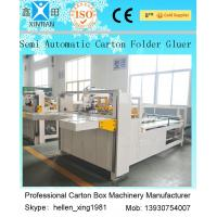 Quality 4000W Semi-Auto Folder Gluer Machine Paper Carton Making Machine wholesale