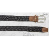 Buy cheap Nickel Satin Buckle Mens Elastic Belt With Tan PU Part from wholesalers