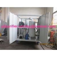 China Insulation Oil Recycling / Tranformer Oil Regeneration Waste Transformer Oil Purifier Series ZYD-I on sale