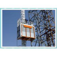 Quality Double Cage Construction Site Elevator , Industrial Materials Hoist wholesale