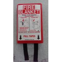 China Multipurpose Emergency Fire Blanket , Fire Resistant Blanket In PVC Red Bag on sale
