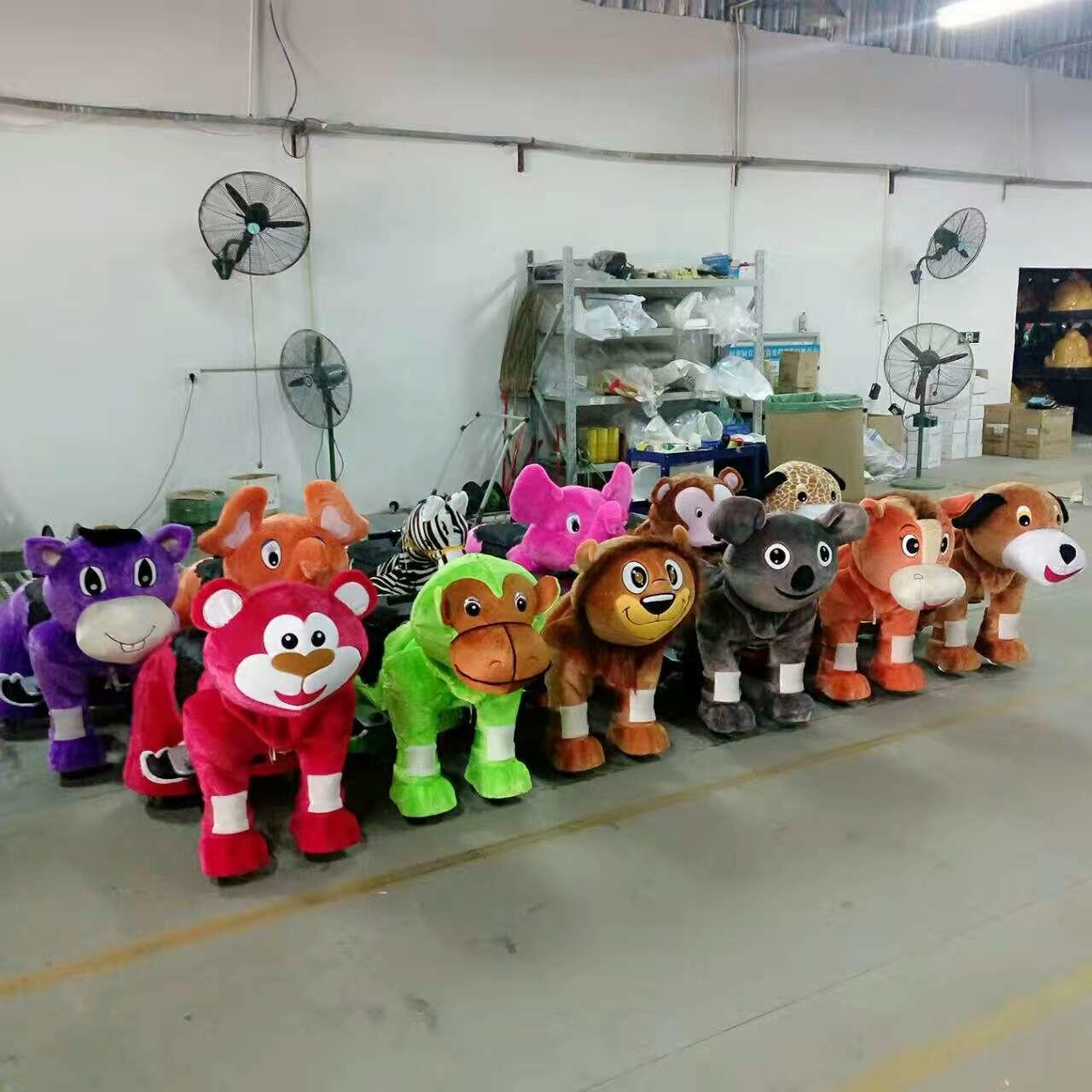 Quality Shopping mall Coin operated electronic kiddie ride walking animal for sale wholesale