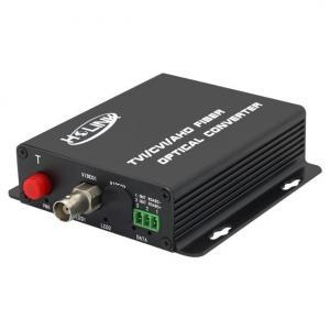 Quality 1 Channel HDTVI/TVI/AHD 1080P Optical Fiber Digital Video Transmitter and Receiver, hdcvi to Fiber Optic Converter wholesale