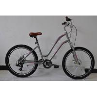 Quality Made in China CE standard steel  26 inch OL city bike for lady  with single speed with basket and carrier wholesale