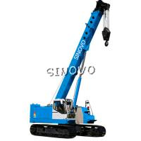 Cheap 3m Lifting range Hydraulic Crawler Crane for piling , 1.79rpm Slewing speed for sale