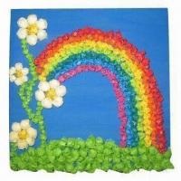 China 18 x 18cm DIY Tissue Paper Craft, Made of Paint Brick/Tissue Paper, with Nice Pattern on sale