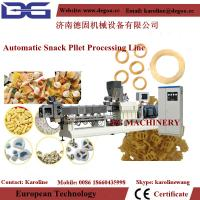 Quality automatic screw / shell / tube fried snack food single screw extruder machine processing line wholesale