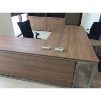 Quality Manager use L shape office desk 3060 steel frame wooden modesty panel wholesale