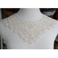 China Delicate Chemical Lace Collar Applique With Cotton Embroidered Floral For Neck on sale