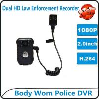 Quality 1080P Body Worn Police DVR Camera IP56 Waterproof Law Enforcement Audio Video Recorder wholesale