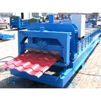 Quality Color Steel Glazed Tile Roll Forming Machine with PLC Computer Control to Europe wholesale