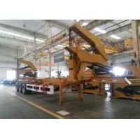 Quality 20ft 40ft Truck Mounted Crane Side Loader Sidelifter , Container Self Loading Semi Trailer wholesale
