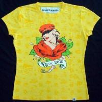 China Ladies allover printed T-shirt on sale