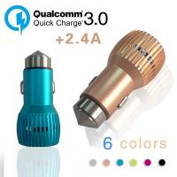 Quality Quick Charge USB Car Charger, Qualcomm 3.0 Universal Car Charger For Cell Phones wholesale