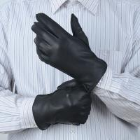 Quality Soft leather gloves with Grade A deerskin leather Classical winter Men's genuine leather gloves wholesale