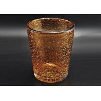 Quality 316ml Hand Made Color Sprayed Glass Votive Candle Holder with Bubble Effect wholesale